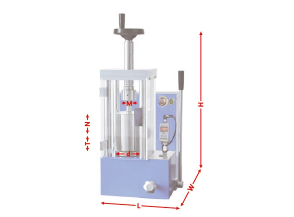 CHD-12J 12 ton electric CIP hydraulic press