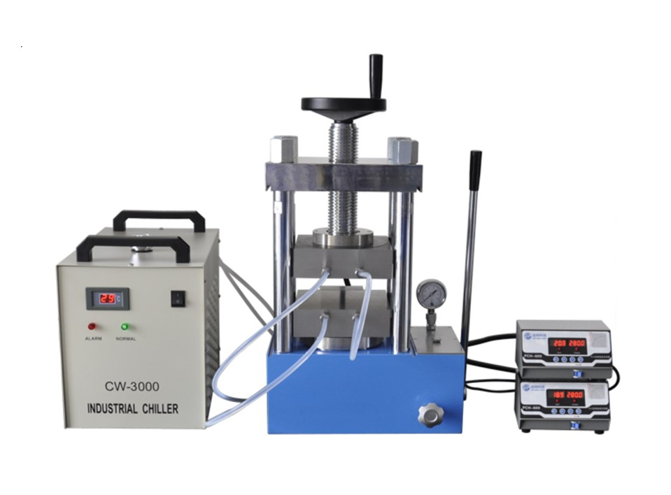 CHH-600D 60 ton laboratory heating press with double heating plate